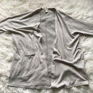 DONNI Ribbed Sweater Coat Grey Cream